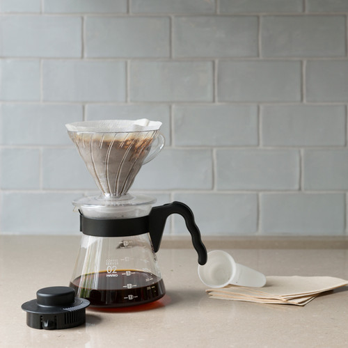 V60 Pour Over Kit (1-4 cups) 600ml - Transparent Holder