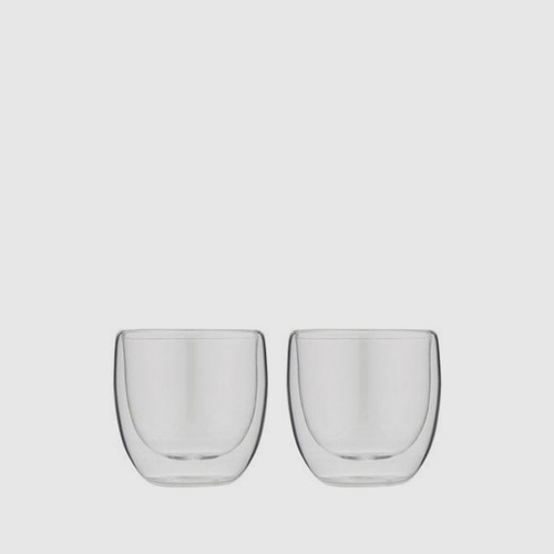 2 x Double Wall Thermo Espresso Glass
