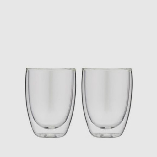 2 x Double Wall Thermo Cappuccino Glass