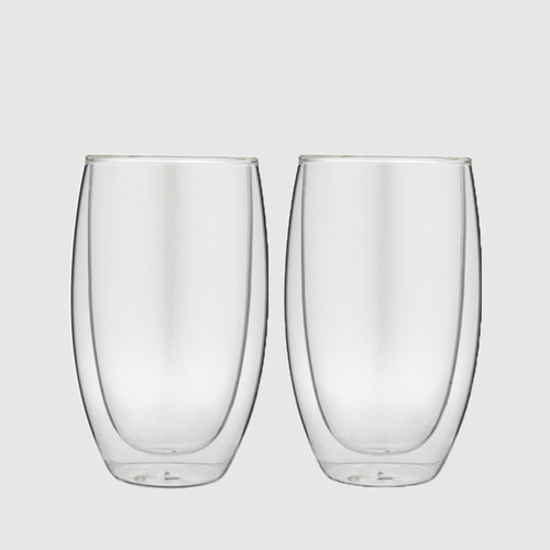 2 x Double Wall Thermo Latte/Tea Glass