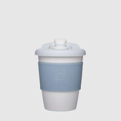 DrinkPod 340 ml Reusable Plastic Cup - Winter / White