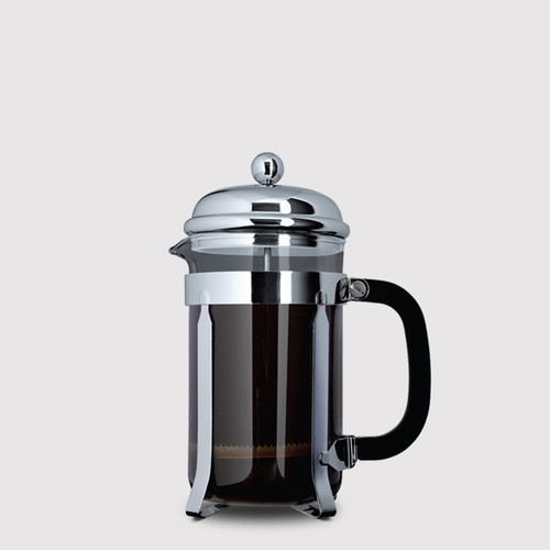 3 Cup Cafetière (350ml) - Glass Body with Stainless Steel Casing