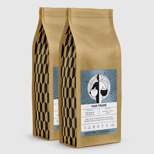 2 Bags of Fair Trade 1kg Coffee Beans