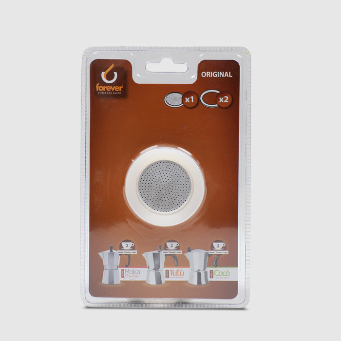 2 Cup Replacement Gasket for Moka Prestige