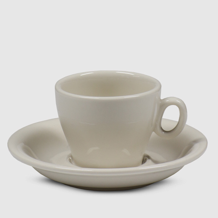 Javan Cappuccino/ Flat White Cup and Saucer