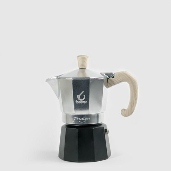 Moka Prestige 3 Cup Woody