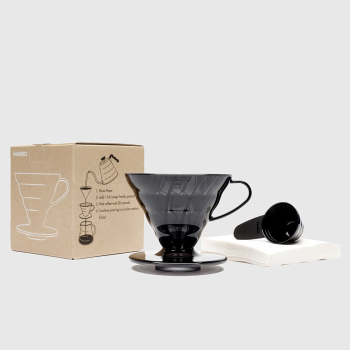 V60 Dripper Set 02 (1-4 cup) Black