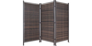 Folding Wicker Partition