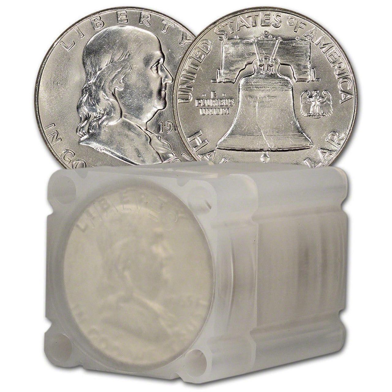 1964 Kennedy Half Dollar 20 COIN FULL ROLL BU 90/% SILVER