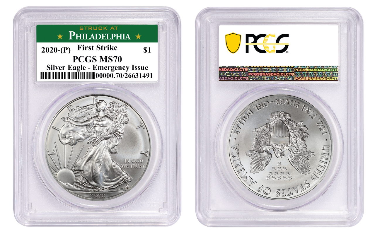 MS70 RARE San Francisco Emergency Issue 2020 S American Silver Eagle PCGS