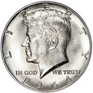1964 Kennedy half dollar: history and values