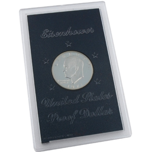 Packaging of a Silver Proof Eisenhower Dollar