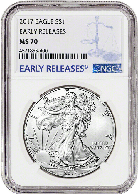 2017 Silver Eagle NGC MS70 Early Releases obverse