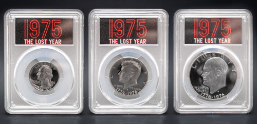 1976-S (1975) 3pc Proof Set PCGS PR70 DCAM - The Lost Year obverse
