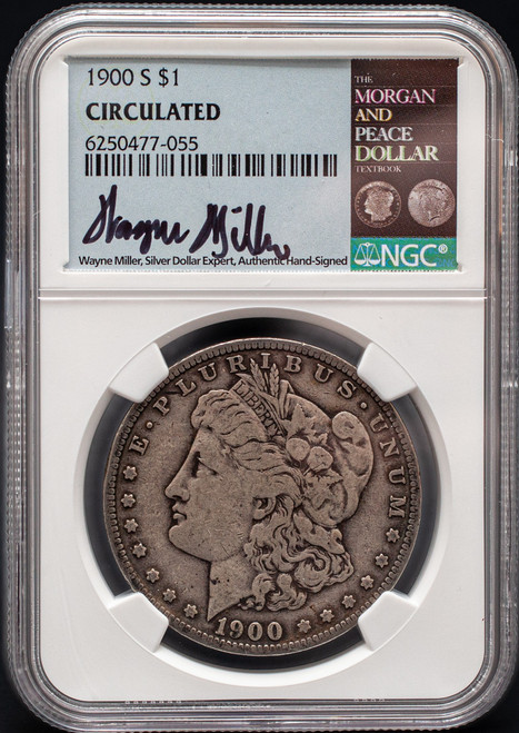 1900 Morgan Dollar Circulated Wayne Miller Signed  obverse