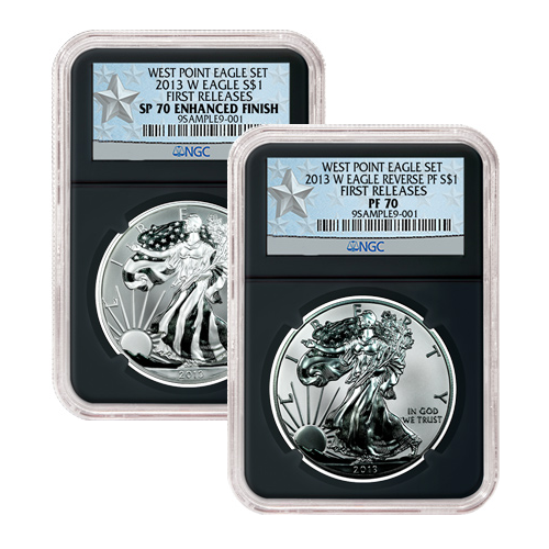 2013-W Silver Eagle 2-Coin Set NGC SP/PF70 - First Releases