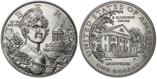 1999-P Dollar Dolley Madison GEM Uncirculated - The First