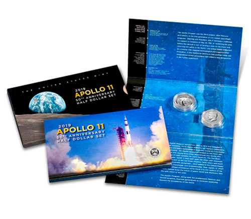 2019-S Apollo 11 50th Anniversary 1/2 Dollar Proof Set
