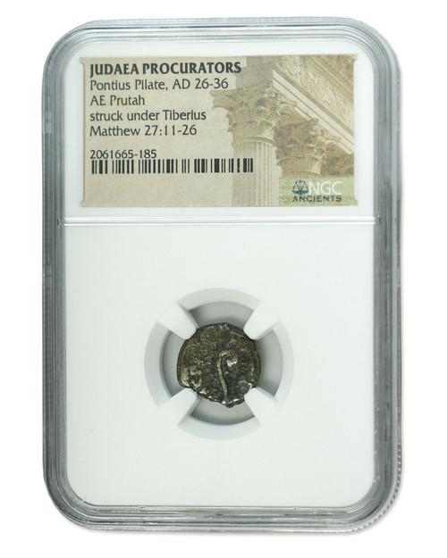 Judaea AE Pontius Pilate (AD 26-36) Prutah NGC Certified