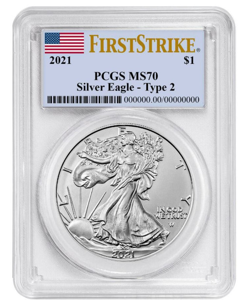 2021 Silver Eagle PCGS MS70 First Strike - Type 2