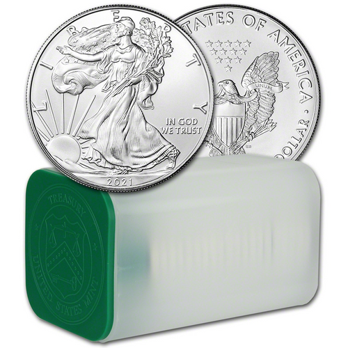 2021 Silver Eagle Type-1 GEM Uncirculated (Roll of 20)