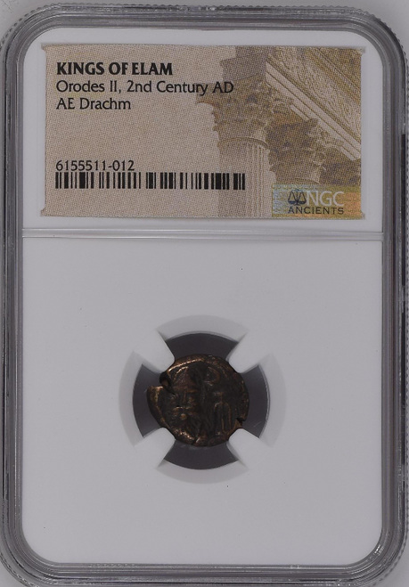 2nd Century Kings of Elam Drachm NGC Certified obverse