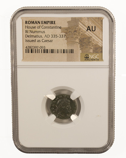 Roman AE of Delmatius (AD 335-337) NGC (AU)