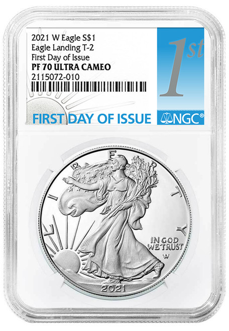 2021-W Type 2 Proof Silver Eagle NGC PF70 UCAM First Day of Issue  obverse