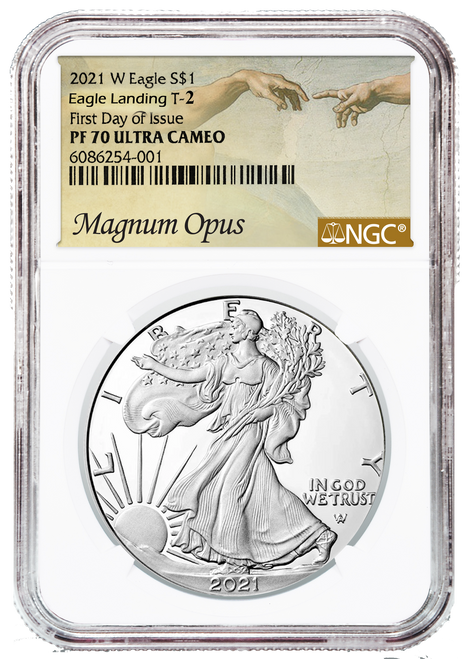 2021-W Type 2 Proof Silver Eagle NGC PF70 UCAM First Day of Issue Magnum Opus