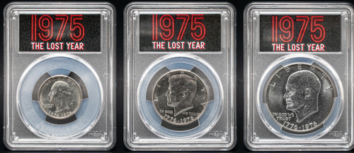 1976-S (1975) 3pc Proof Set PCGS MS64 - The Lost Year obverse