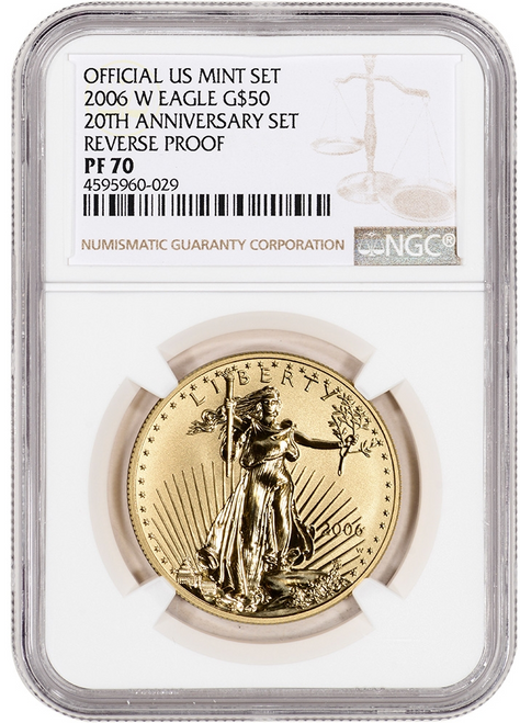 2006-W Reverse Proof Gold Eagle NGC rev PF70 - 20th Anniversary