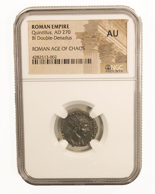 Roman AE Antoninianus of Quintillus (AD270) NGC (AU)
