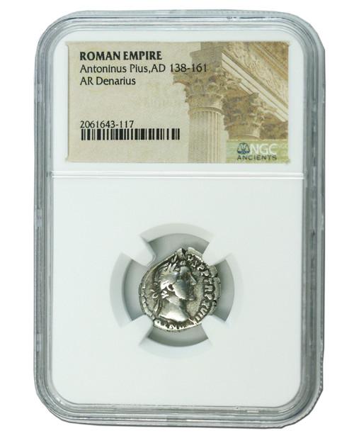 Roman Silver Denarius of Antoninus Pius (AD 138-161)  NGC (Medium grade)