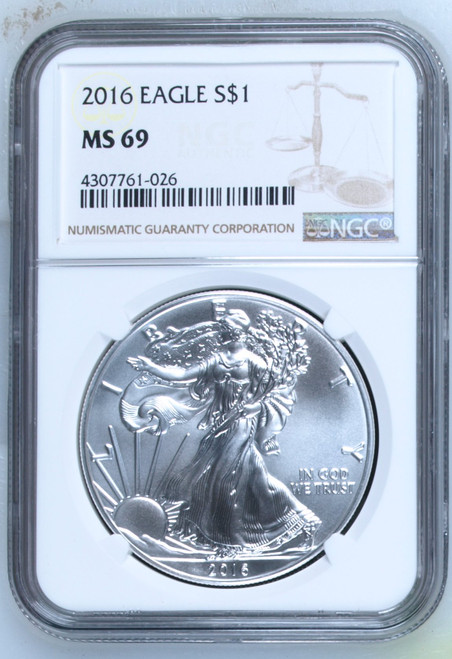 2016 Silver Eagle NGC MS69 obverse
