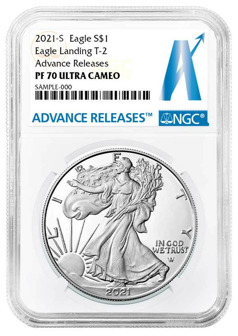 2021-S Proof Silver Eagle Type 2 NGC PF70 UCAM Advanced Releases