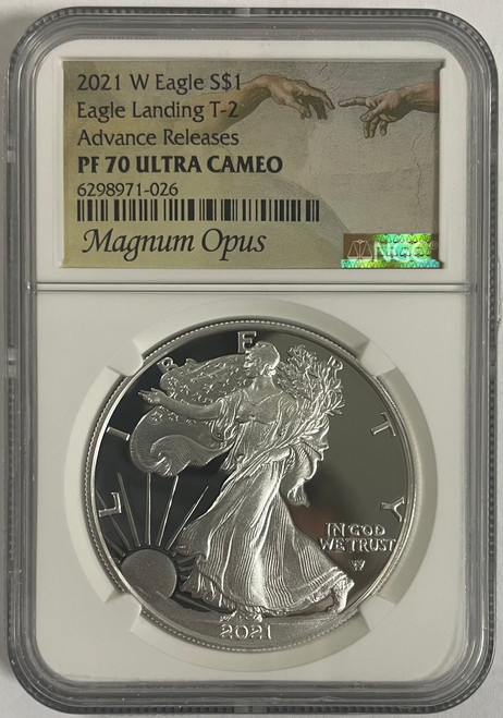 2021 Type 2 Proof ASE NGC PF70 Advance Release Magnum Opus