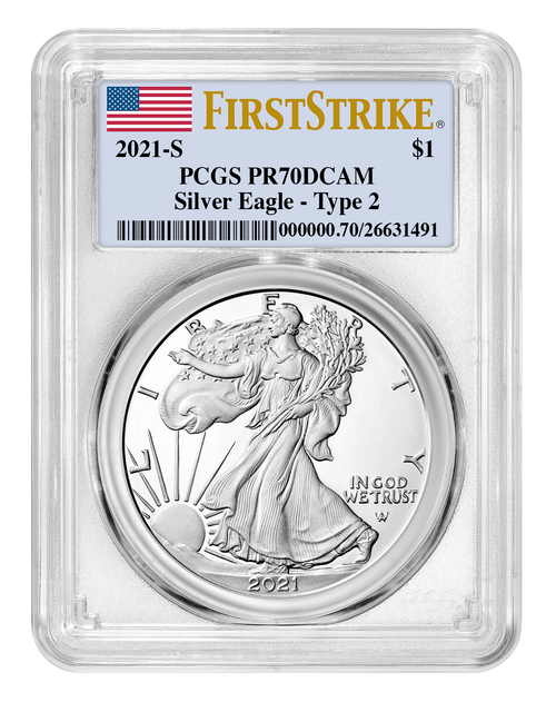 2021-S Proof Silver Eagle PCGS PR70 DCAM First Strike