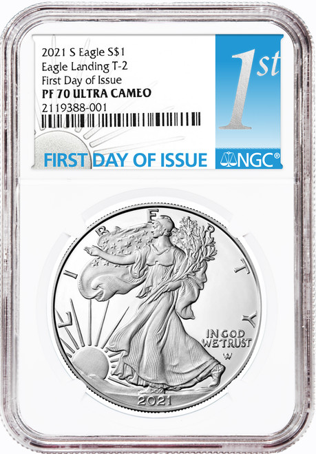 2021-S Proof Silver Eagle NGC PF70 UCAM First Day of Issue