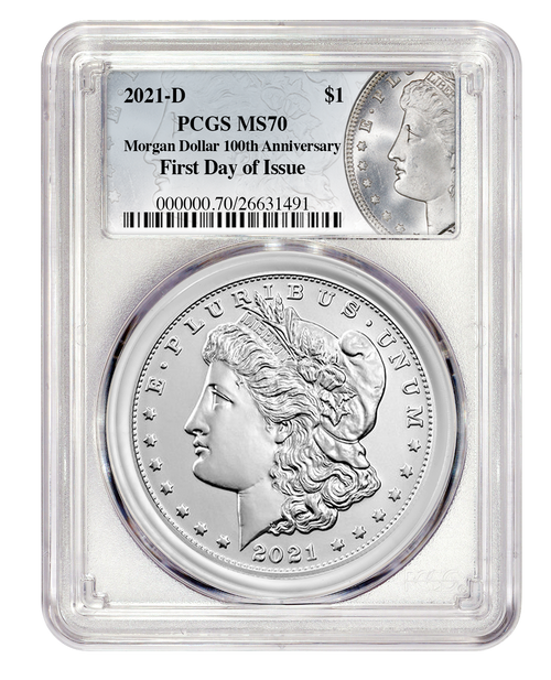 2021-D Morgan Silver Dollar PCGS MS70 First Day of Issue