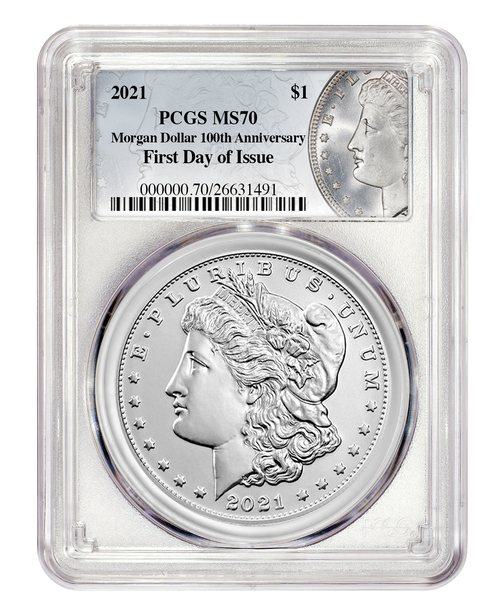 2021 Morgan Silver Dollar PCGS MS70 First Day of Issue