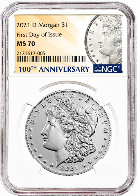 2021-D Morgan Silver Dollar NGC MS70 First Day of Issue