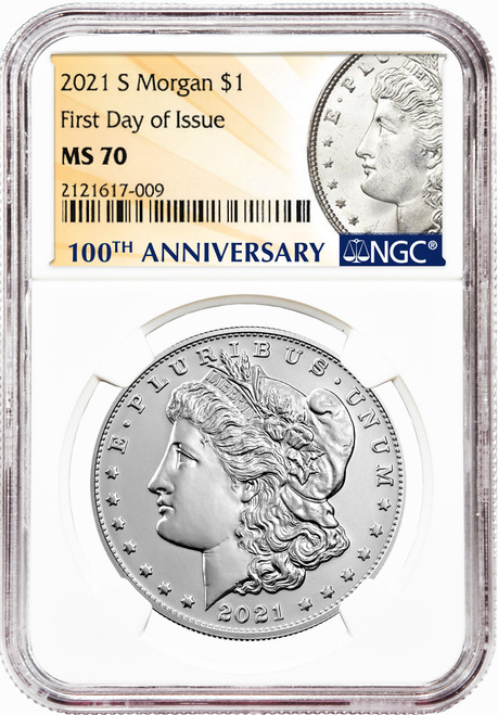 2021-S Morgan Silver Dollar NGC MS70 First Day of Issue