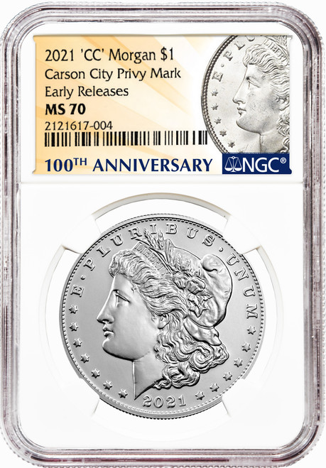 2021-CC Morgan Silver Dollar NGC MS70 Early Releases