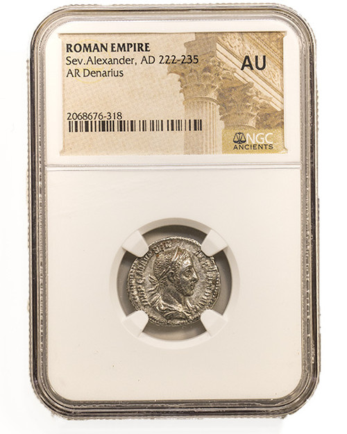 Roman Silver Denarius of Severus Alexander (AD 222-235) NGC (AU)