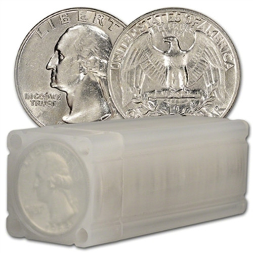 90% Silver Washington Quarter Choice Brilliant Uncirculated - Roll of 40