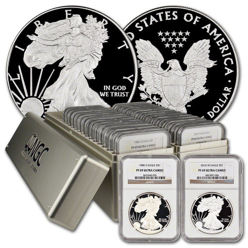 1986-2020 Complete Silver Eagle Set NGC PF69 34-Coins