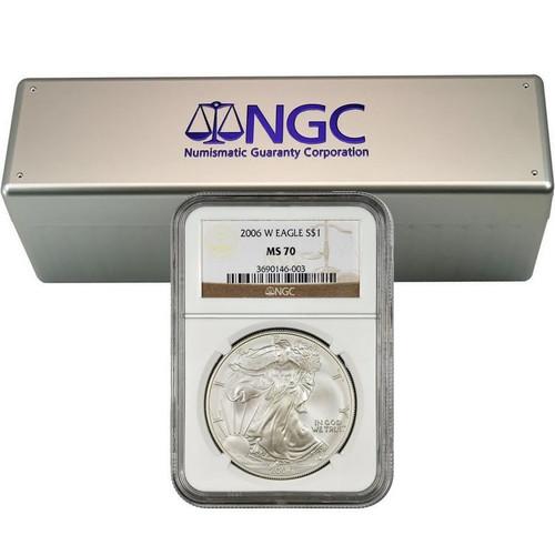 2006-2020 Complete Burnished Silver Eagle Set NGC MS70 (13 Coin Set)