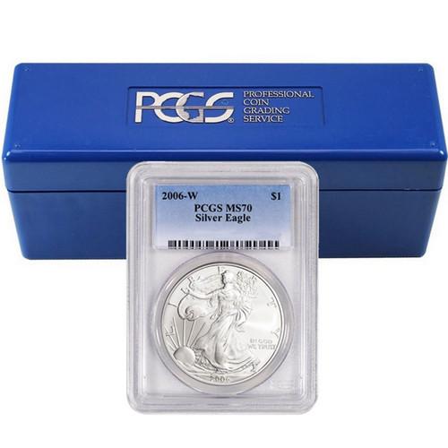 2006-2019 Complete Burnished Silver Eagle Set PCGS SP70 (12 Coin Set)