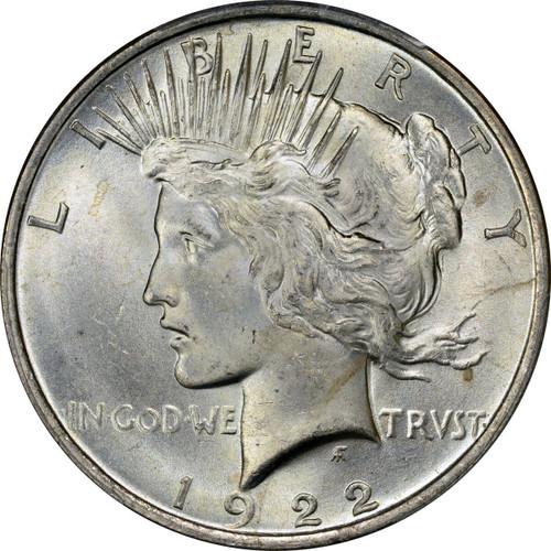 1922-P Peace Silver Dollar Brilliant Uncirculated - BU
