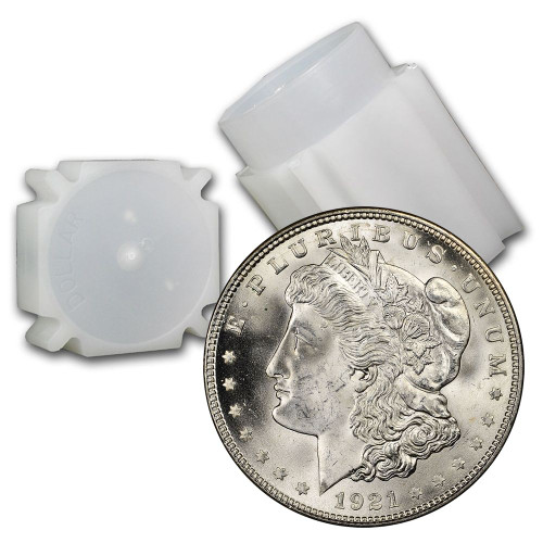 1921-P Morgan Silver Dollar Roll Brilliant Uncirculated - BU (20 Coins)